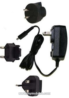 BlackBerry Genuine BlackBerry ASY-18080U Micro USB 3 Clips Travel Charger for Blackberry Curve 9300-8520